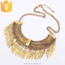 LOW MOQ wholesale stainless steel gold plated costume necklaces jewelry for women N0174
