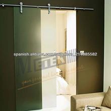 Vidrio interior moderno puerta corredera / Vidrio decorativo interior puerta corredera