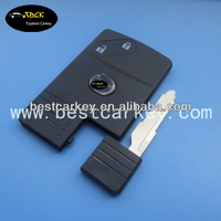 Cheaper price 2 button remote key shell / car key cover for mazda smart card key