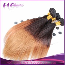 Long lasting top quality 100% raw virgin ombre hair two tone straight zury hair