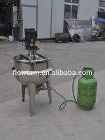 industrial gas cooking kettle mixer