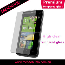 oleophobic coating tempered glass Japan glue easy to apply screen protector for htc desire c screen protector