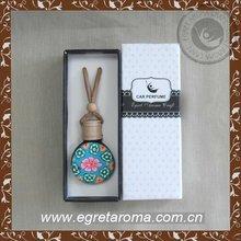 wholesale custom ceramic bottle for car perfume hanging