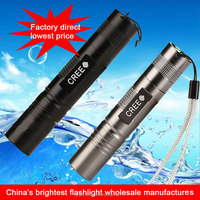 multifunctional rechargeable aluminum best led torch with 18650 lithium batteries