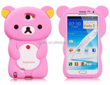 Cute 3D Animal Bear Shape Silicone Mobile Phone Case High Quality Cases