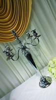 Wholesale 5 arm silver candelabra cheap on sale