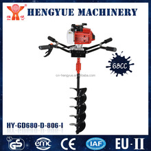 68CC tree planting gasoline machine mini earth or ice auger for sale