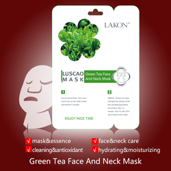 Green tea for the strongest natural antioxidants,eliminates wrinkles with green tea face and neck mask face and neck mask