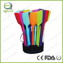 FDA food grade fashionable waolesale cheap popular kitchen tool silicone spatula set
