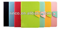 "Button Double colors Leather Case Cover Skin For Apple Ipad MINI 7""tablet"