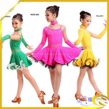 Girls Lace National Costumes For Kids/Practice Dance Wear /Lace Performance Wear