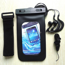 2015 hot sale waterproof mobile phone cover set with arm band and waterproof earphone