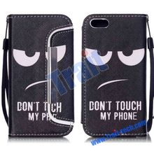 2015 New Arrival Cross Pattern Wallet Detachable Lanyard Magnetic PU Leather Case for iPhone 5C
