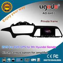 For car DVD GPS for Hyundai Sonata 2015 left hand drive with DVD GPS radio bluetooth