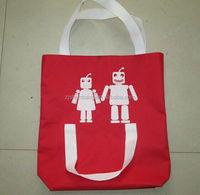 2015 cheap polyester+eva bra bag/ spider illustration pattern tote bag/ design 190t polyester+eva bra bags