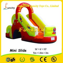 Hot sale 0.55mm PVC tarpaulin mini inflatable large Dry Slide for kids and adults entertainments