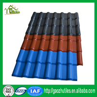 low price antique light weight plastic blue spanish roof tile