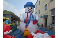 custom fixed giant snowman inflatable advertising cartoon ,moving cartoon for advertisment