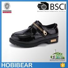 HOBIBEAR boy shoe zipper wholesale boy shoe flat school boy shoe