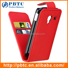 Set Screen Protector Stylus And Case For Samsung Galaxy Ace Plus S7500 , Red Leather Wallet Cell Phone Credit Card Holder
