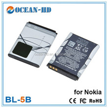 BL-5B mobile phone batteries for Nokia 3220/6120ci/3230/5300/5320XM/N80/5200/5070/5140/5500