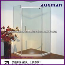 Simple y económica de diamante en forma de recinto de la ducha/cubículo de la ducha/de modelo de zhejiang 619