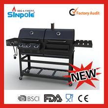 2015 New Patent Sinpole heavy duty barbecue gas grill with CE/LFGB/CSA approved(KLD5001)