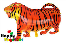 HAPPY TOGETHER Factory wholesale Hot Sale Cheap Print Tiger Helium Balloons