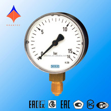 Bourdon tube pressure gauge Lower mount,