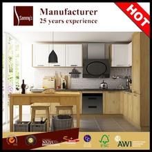 SKB2180 New Design Modern Kitchen Cabinets Matt White MDF Combination with Ash in Clear Finish Kitchen Item Cabinet Kitchen