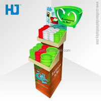 Corrugated retail pallet display ,corrugated rack rice bowl pallet display ,corrugated pallet display unit