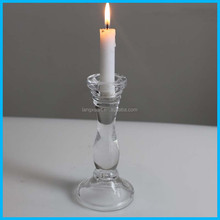 "Pair Elegant Crystal Candle Holders 6 3/4"" TALL"