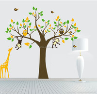 Monkey Tree Giraffe Vinyl Wall Stickers kids Baby children Decor Home Wall Paper Decal deco Art Sticker
