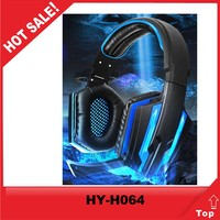 top selling products 2015 LED light pc headphone with hig quality micro led usb cable
