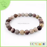 Crazy Lace Agate Stone Beads Elastic Bracelet, Gemstone Beads Stretch Bracelet, Magnetic Bracelet