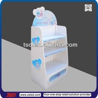 TSD-W907 baby shop three layers wooden exhibition stand/white finished exhibition wooden stand/painting exhibition stand