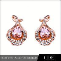 Costume Jewelry In Korea Fashion Crystals Luxury Earrings for Young Women E0330