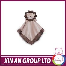 W80/ASTM/SENEX small lion head lovely plush baby comforter