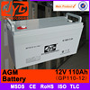MSDS approved Popular procurement 12v 110ah deep cycle agm battery