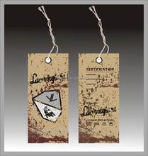 Clothing Hang Tag for Jeans, T-shirts, Sweater