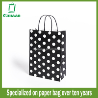 Fashion branded yellow red shopping paper bag