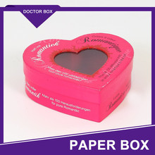 Luxury With Window Heart Shape Wedding Favor Box In China/Wedding Favour Box