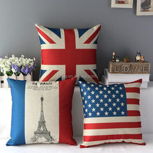 T-Series flag style natural valentine cushion cotton bolster red and white Pillow