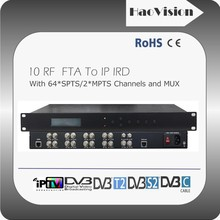 10 channels FTA tuners to ip gateway dvb-t2 receiver