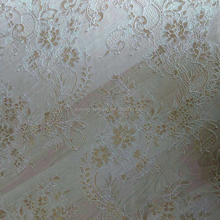 Charming Peony Flower Lace Fabric Polyester Nylon Jacquard Mesh Fabric For Dress
