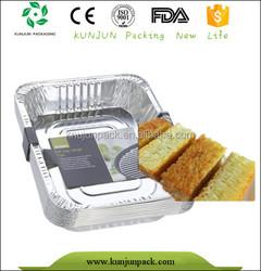 customized 25 count disposable aluminum foil meal box