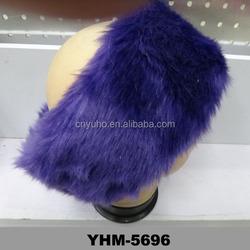 New Warm Faux Fur Headband Hat Ear Warmer Winter ski ear muffs Purple