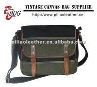 BUG 2013 fashion green canvas messenger shoulder bag/canvas shoucheap school messenger bag/cheap school messenger bag