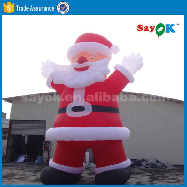 Grand extérieur décorations de noël père noël gonflable à vendre