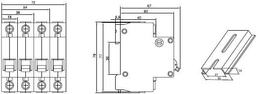 c16 mcb miniture circuit breaker